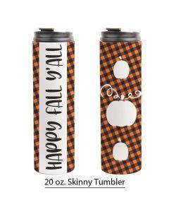 Fall Buffalo Print, Pumpkin, 20 oz. Skinny Tumbler Template