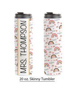 Rainbow Teacher Appreciation, 20 oz. Skinny Tumbler