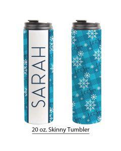Let it Snow, Skinny Tumbler Pre-Designed Template