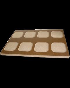 """13"""" x 19"""" MDF Board Jig for Hardboard Drink Coasters (SB1009)"""