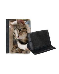 Fabric Sublimation iPad Air Case - Canvas and Black Suede