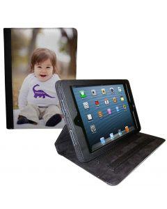 Fabric Sublimation iPad Mini Case - Canvas and Black Suede
