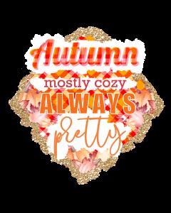 Cozy Autumn Sublimation Design, Leaves Plaid