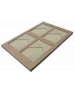 """13"""" x 19"""" MDF Board Jig for 5"""" x 7"""" Chromaluxe Photo Panels"""
