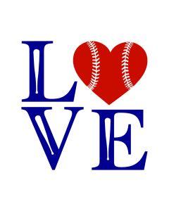 Baseball SVG - Love Heart Baseball SVG Cut File