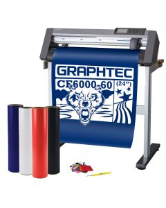 Graphtec CE6000-60 Package Including Cutter, Software, Weeding Tool, 3M Squeegee, 4 rolls of Calendered Sign Vinyl, Application Tape and MORE!!