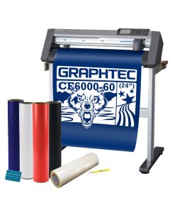 """Graphtec CE6000-60 PLUS 24"""" Vinyl Cutter with FDC Sign Vinyl Package"""