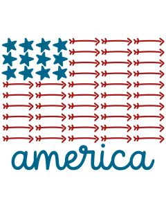 America Stars & Arrows Flag 1 Patriotic SVG