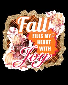 Fall Joy Sublimation Design, Autumn Thanksgiving