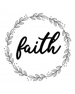 FLORAL WREATH FAITH