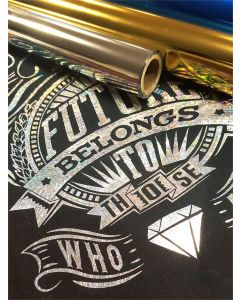 """Heat Transfer Foil Rolls for Fabric Foil Stamping - 12"""" wide"""