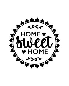 Home Sweet Home Round Sign SVG for Home, Farmhouse