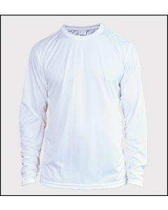 Adult Solar Performance Long Sleeve T Shirt by Vapor Apparel - White