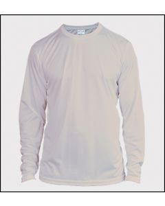 Adult Long Sleeve Solar Performance Sublimation T Shirt by Vapor Apparel - Gray