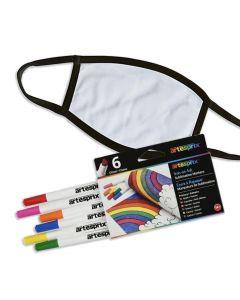 Kids' Sublimation Mask & Artesprix Marker Bundle