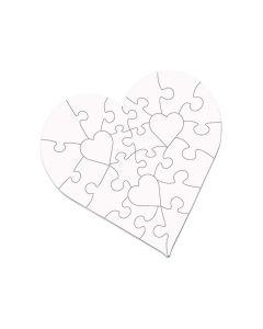 "23-Piece Heart Sublimation Jigsaw Puzzle - 6.7"""