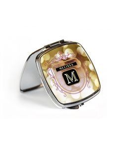 Silver Square Compact Makeup Mirror for Sublimation Printing