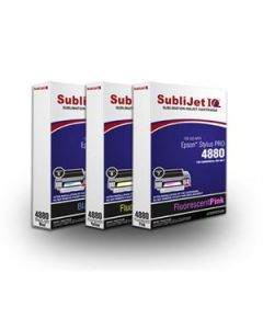 Epson 4880 Fluorescent Sublimation Ink - Sublijet IQ Standard Capacity Ink Ink Cartridges