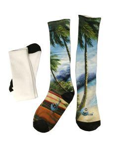 "Vapor Apparel SubliSock - 11"" Tall Sublimation Calf Socks - Ladies 4 - 6"