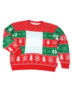 Ugly Christmas Sweater for Sublimation - Large - Sold as each