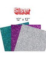 """Siser Glitter Heat Transfer Vinyl Sheets - 12"""" x 12"""""""
