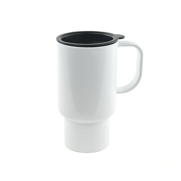 plastic 15 oz sublimation travel mug with handle coastal business supplies. Black Bedroom Furniture Sets. Home Design Ideas