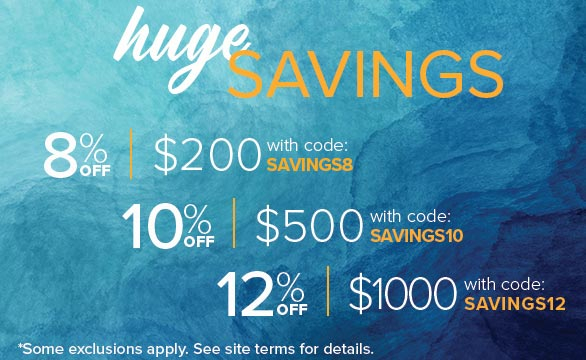 Save site-wide with our codes SAVINGS8, SAVINGS10, and SAVINGS12!