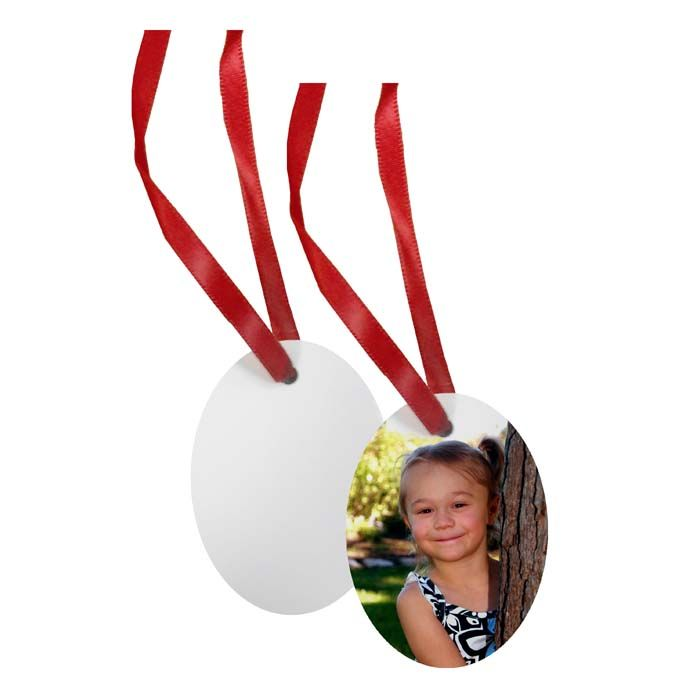 Oval Borderless Holiday Ornament