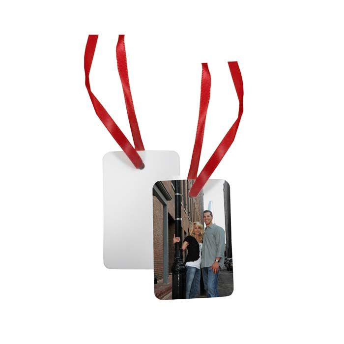 Portrait Borderless Holiday Ornament