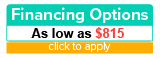 Financing options as low as $815 per month