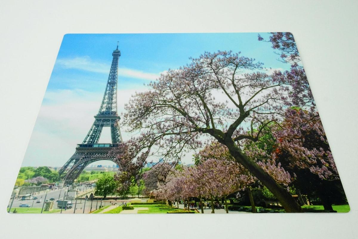 Eiffel Tower on ChromaLuxe Gloss White Metal Photo Panel | Coastal Business Supplies
