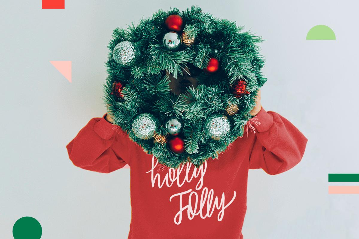 Festive Christmas Sweater and Wreath | Coastal Business Supplies