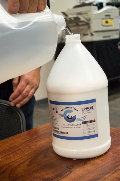 dilute pretreat solution distilled water before dtg printing coastal business supplies