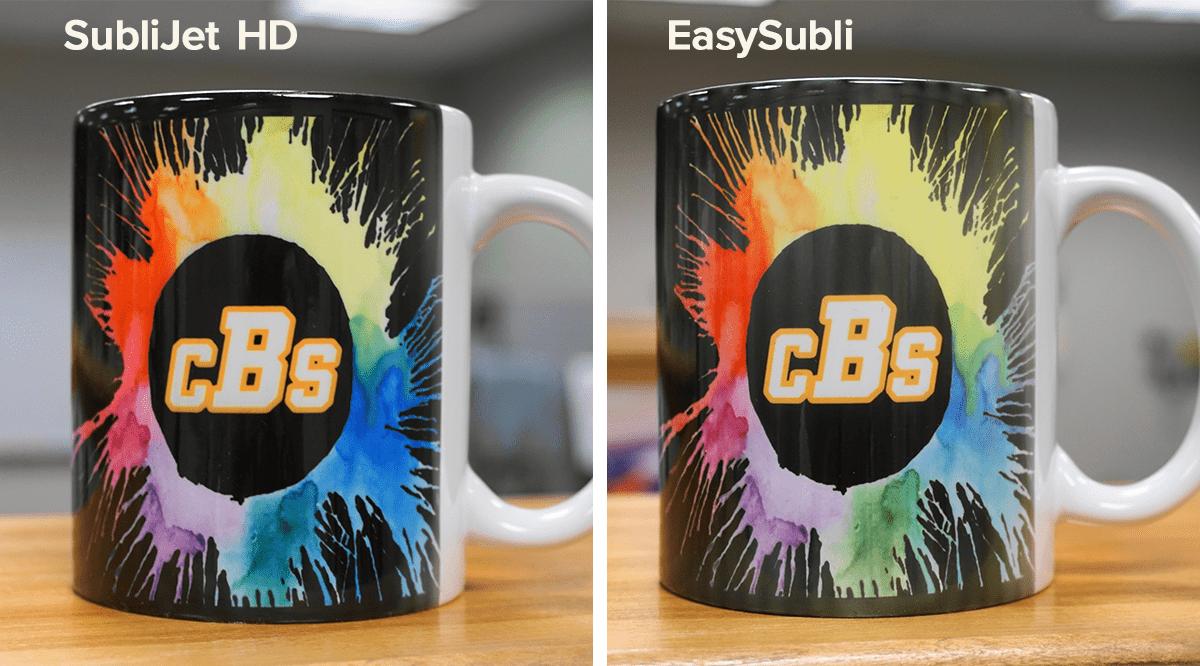 Comparing SubliJet HD and EasySubli Ink on Mugs | Coastal Business