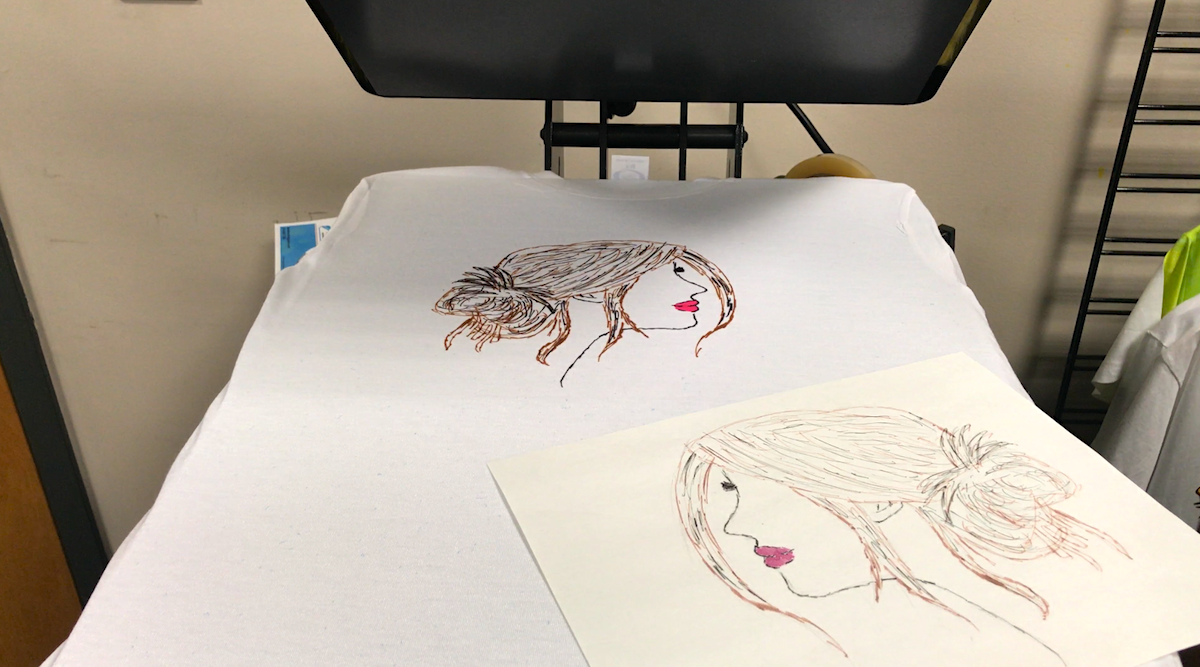Heat Pressing T-shirt with Girl Silhouette - Artesprix Sublimation Markers
