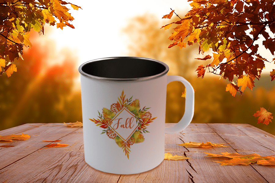 Decorated Sublimation Stainless Steel Camp Mugs