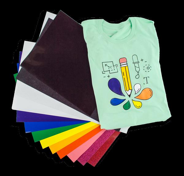 heat transfer vinyl htv siser xpress cut silhouette coastal business supplies t-shirt pencil paint graphic design tshirt design vinyl sheets rainbow colors