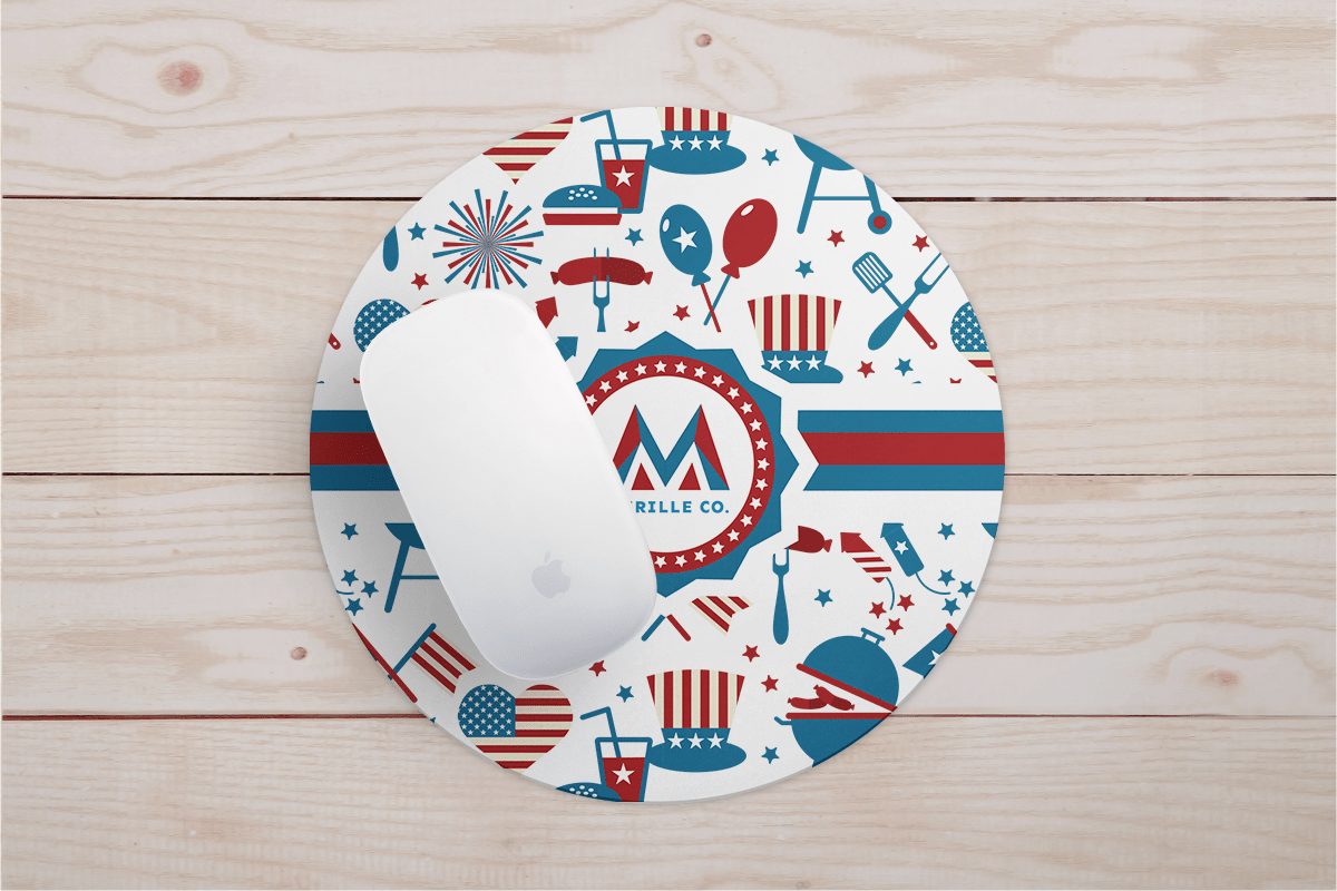 Sublimated Mousepad for the Fourth of July | Coastal Business Supplies
