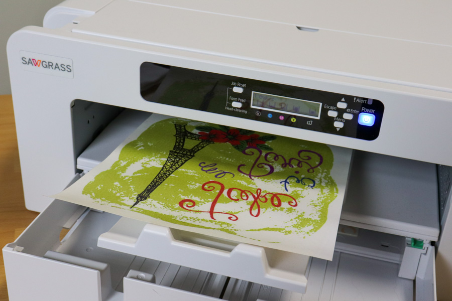 Printing FOREVER Subli-Light on the SG800