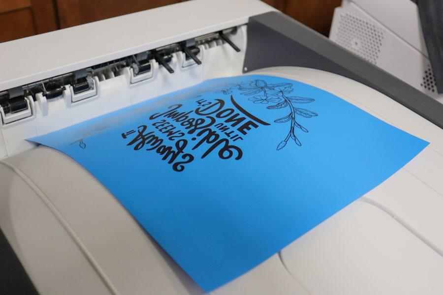 Printing onto FOREVER Flex Soft