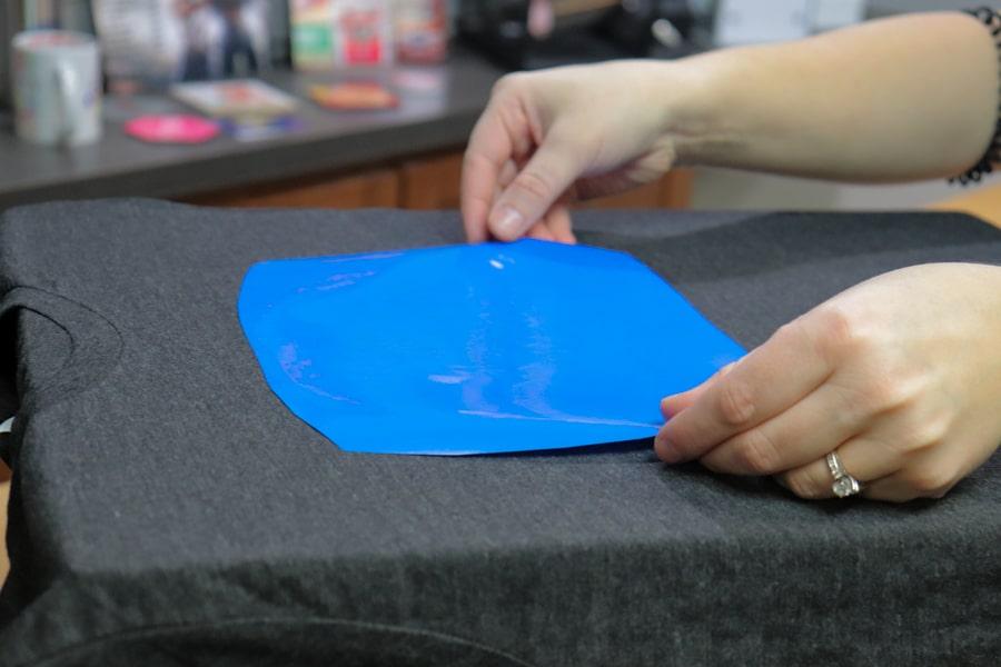 Placing FOREVER Flex Soft A-Foil onto T-Shirt