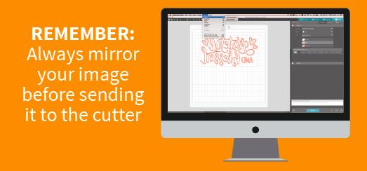 mirror image heat transfer vinyl HTV coastal business supplies cut design t-shirt silhouette desktop siser xpress cut