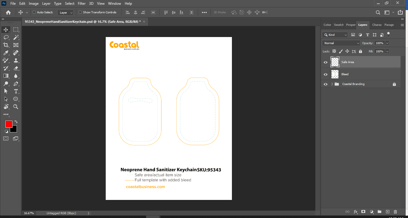Sublimation Template in Adobe Photoshop