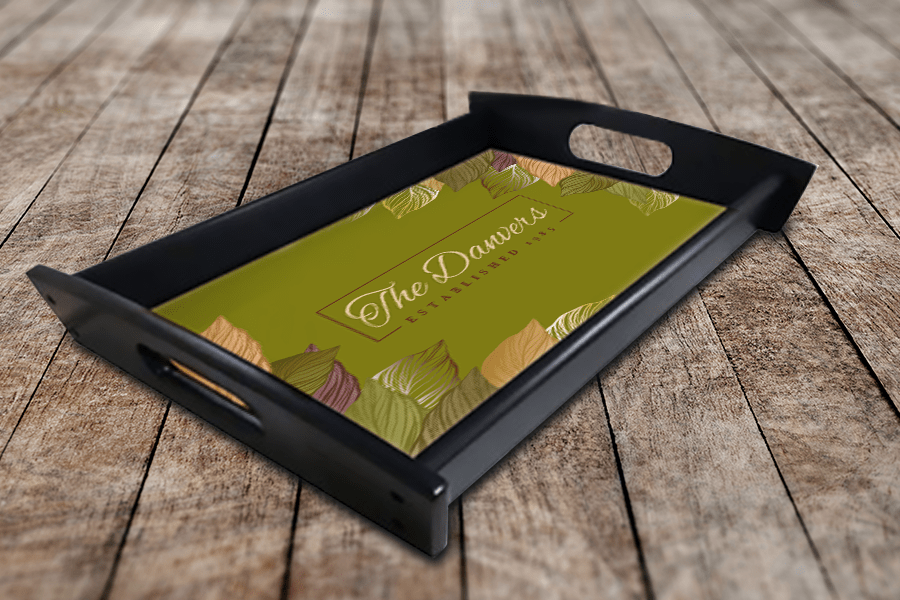 Decorated Sublimation Serving Tray