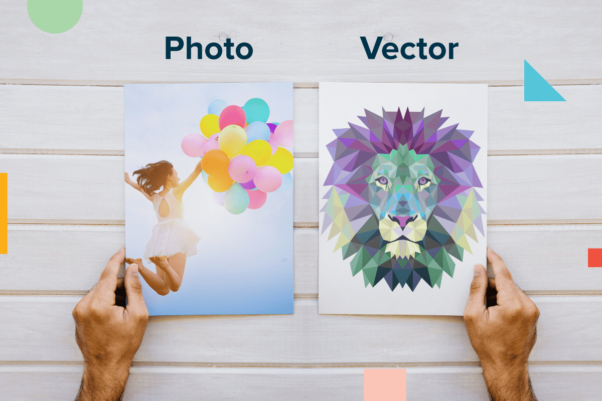 Comparison of Photos and Vector-Style Graphics | Coastal Business Supplies