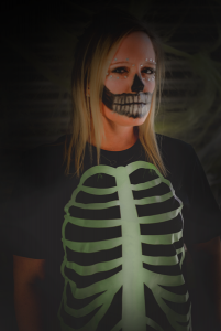 DIY Skeleton Costume with glow-in-the-dark t shirt vinyl from Coastal Business Supplies