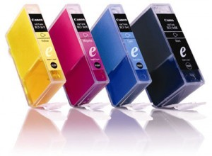 Four Ink Cartridges. CMYK