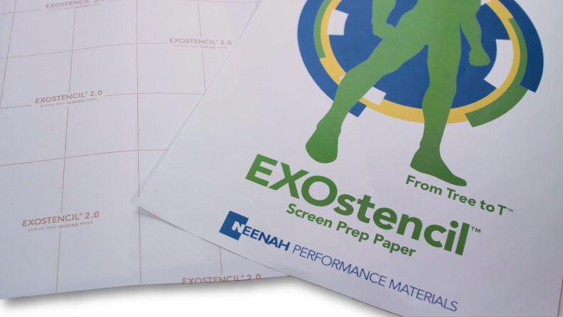 New Product: EXOstencil Screen Prep Paper Sheets