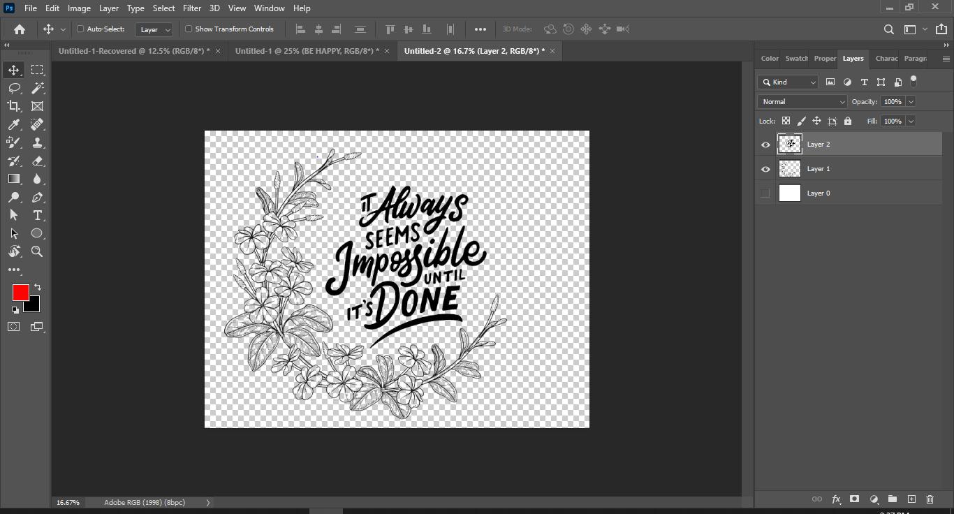Screenshot of Creating Design in Adobe Photoshop