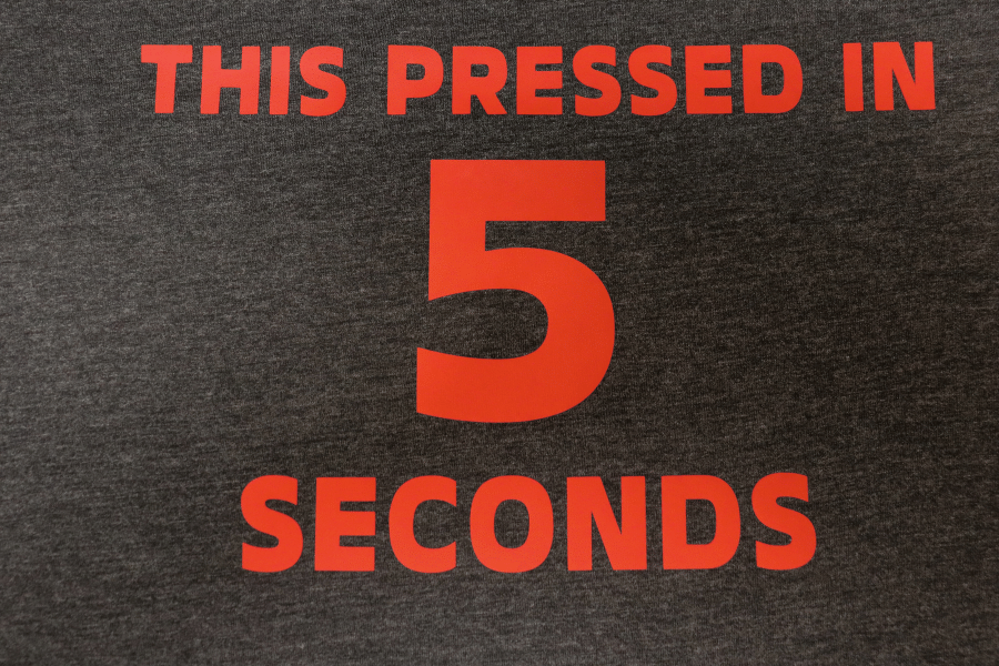 T-Shirt Pressed with XPress Cut HTV